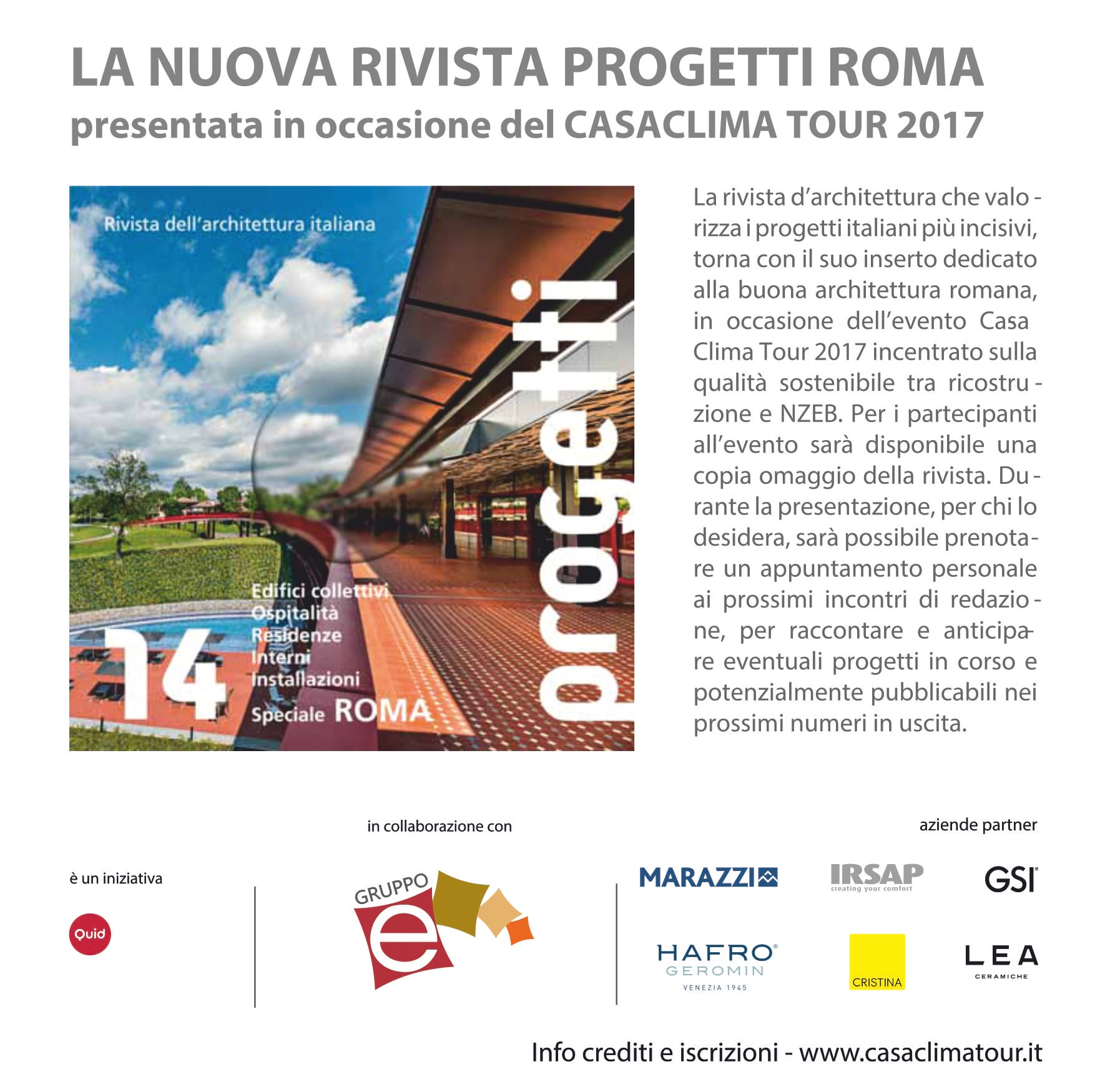 Arredo Bagno Loc Roma.Presentazione Rivista Progetti Roma N 14 Seminario Casaclima